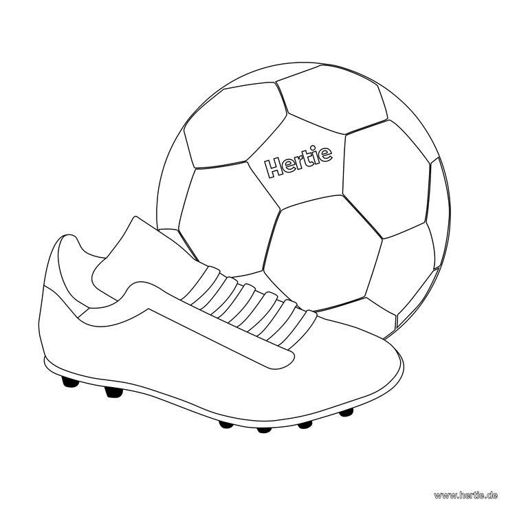 The 12 best Fussball-Ausmalbilder images on Pinterest | Creative ...
