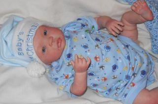 "OOAK Newborn 3D Skin Reborn Baby Boy ""Lullaby Dreams Nursery"" 1 Day Listing"