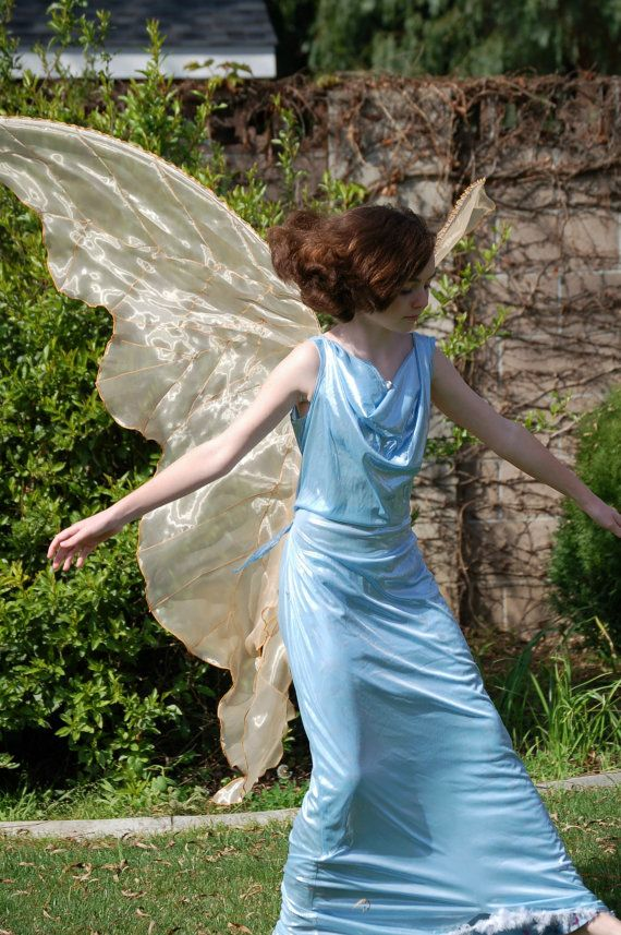 17 best images about costumes on pinterest day dresses for Angel wings wedding dress