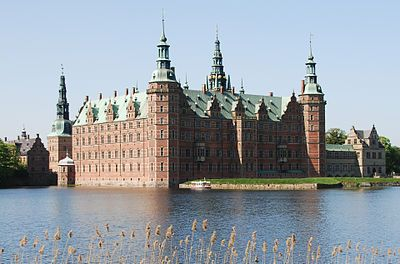 Frederiksborg Castle (Danish: Frederiksborg Slot) is a palatial complex in Hillerød, Denmark. It was built as a royal residence for King Christian IV of Denmark-Norway in the early 17th century, replacing an older castle acquired by Frederick II and becoming the largest Renaissance residence in Scandinavia.