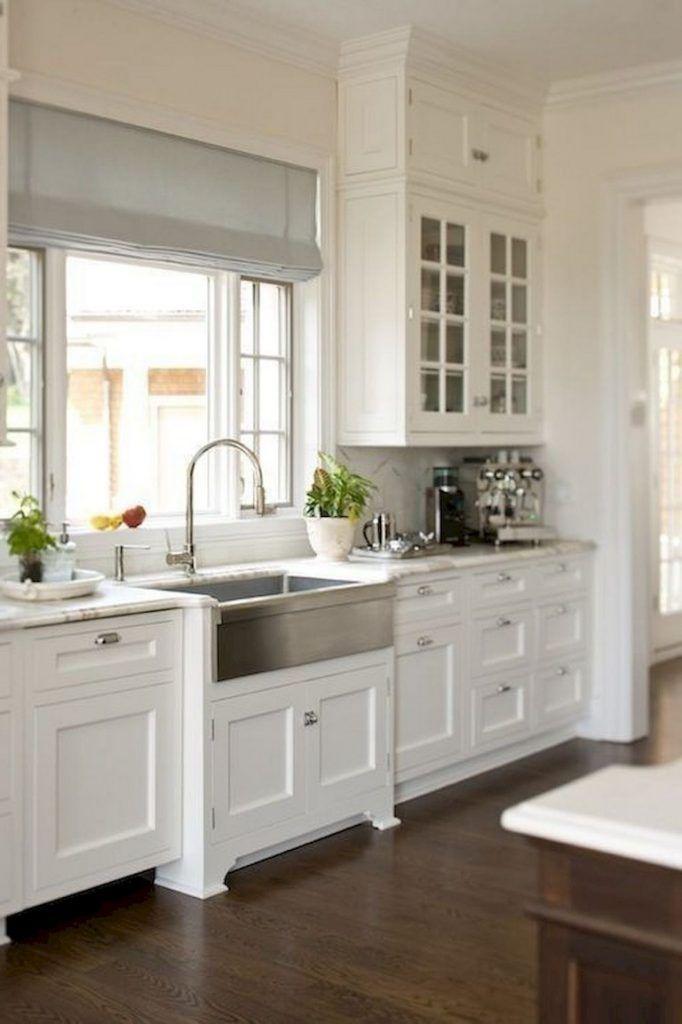 Pin On Casas, Farmhouse Kitchen White Shaker Cabinets