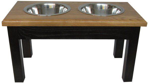 Classic Pet Beds 2-Bowl Traditional Style Ash Pet Diner, Small, Espresso/Medium Walnut:Amazon:Pet Supplies