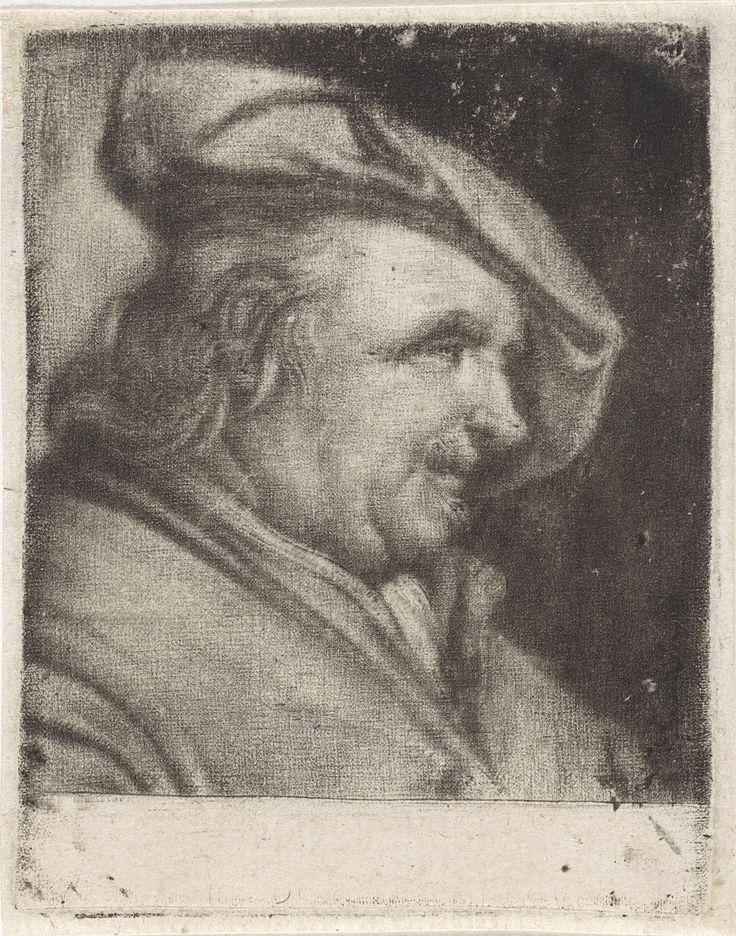 Anonymous | Kop van een man met een baret, naar rechts, Anonymous, 1650 - 1800 |