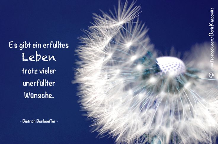 Es gibt ein erfülltes Leben trotz vieler unerfüllter ...