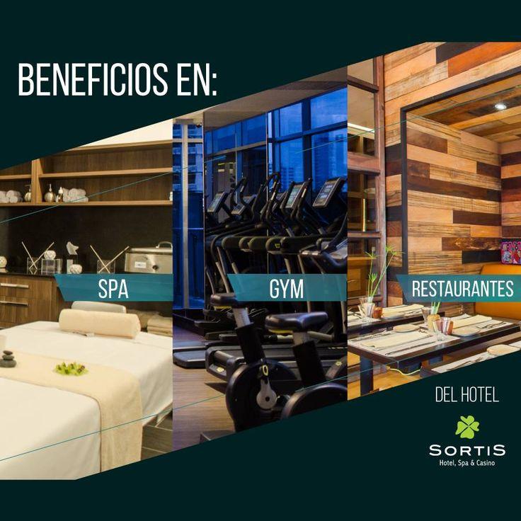 Al tomar una oficina, obtendrá estos beneficios que le brinda la Membresía de SORTIS Hotel, Spa & Casino:   - 10% de descuento en tarifas de habitaciones  - 10% de descuento en catering y banquetes. - 10% de descuento en Gimnasio y Spa. - 10% de descuento en alquiler de Salones del Business Center. - 10% de descuento en consumo de restaurantes y bares del Hotel.