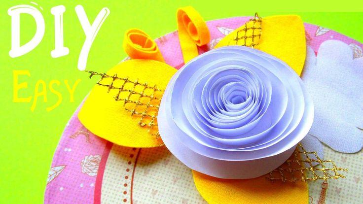 DIY Origami How to Make a Paper Rolled Roses   Оригами РОЗА как сделать розы из бумаги ДЕКОР