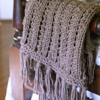 Throw made with size 14 needles and chunky yarn, can be knit quickly.  Free pattern linked.