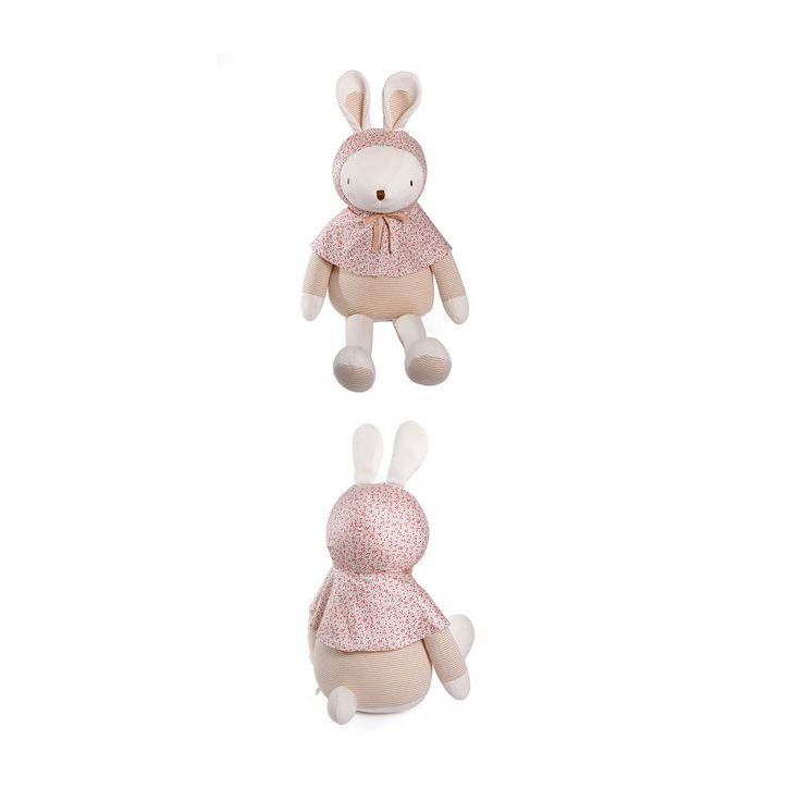 Baby Rabbit Organic Doll Wearing Cape Best Gift Kids No Skin Problems Bunny Toy #MinkElepang