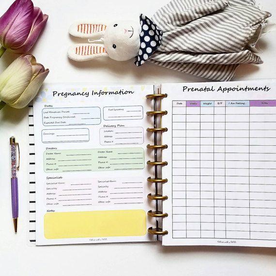 Inserts de planification de la grossesse pour le planificateur heureux!  – Baby On Board!!!