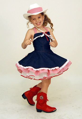 little girls cowgirl costume - Pageant Girl Halloween Costume