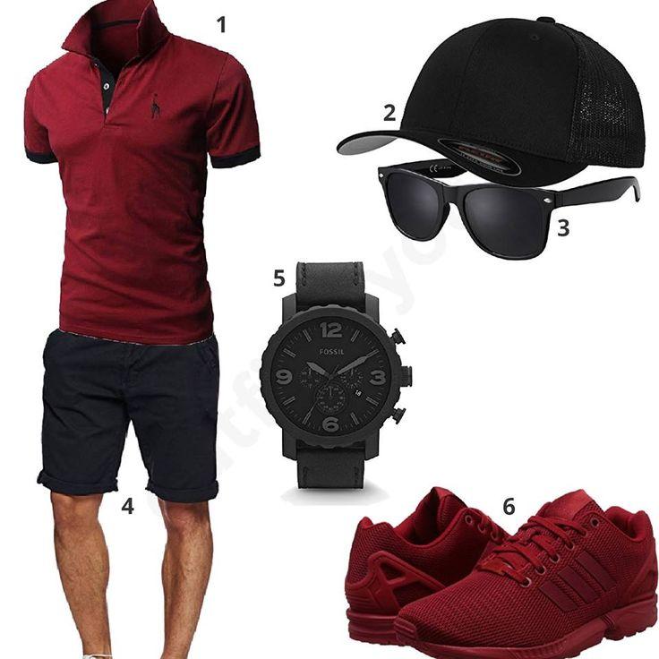 dunkelrot schwarzer style f r m nner m0391 outfit. Black Bedroom Furniture Sets. Home Design Ideas