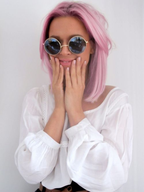 perfect pastel color long bob #hair #paste.       l I want this!!