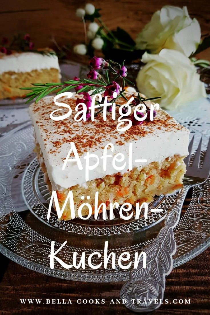Best recipe for a juicy apple and carrot cake from the plate! #recipe #simple #ostern   – Dessert