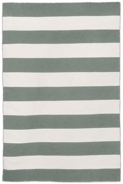 The simple stripe pattern combined with sophisticated gray make this indoor/outdoor rug a perfect addition for the patio or your living room! #stripes