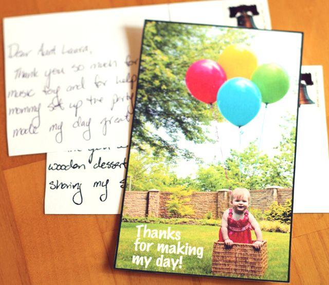 Modern Parents Messy Kids: DIY: Postcard Thank You Notes