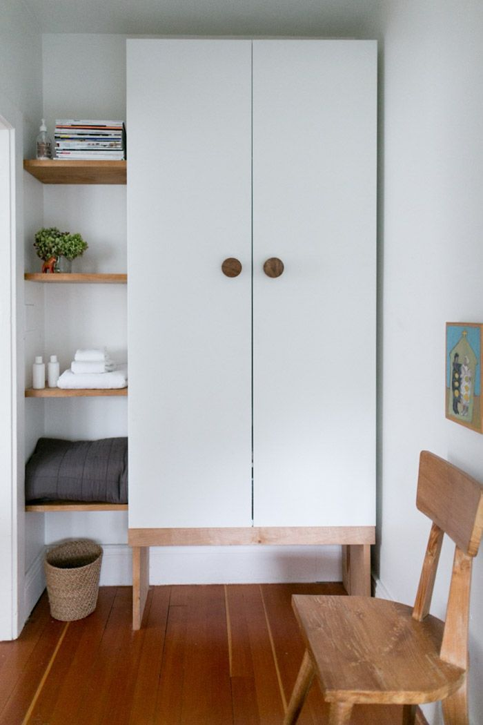 An Inviting and Refined Gathering Space in Seattle | IKEA Pax closet wardrobe hack