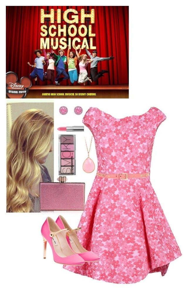 """Sharpay high school musical"" by pandalover456 ❤ liked on Polyvore featuring Simone Rocha, Jimmy Choo, Judith Leiber, Irene Neuwirth, Gemvara and H&M"