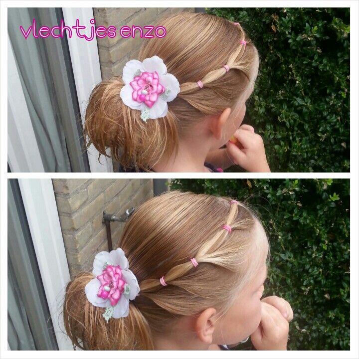 Elastic hairstyle #hairstylesforgirls