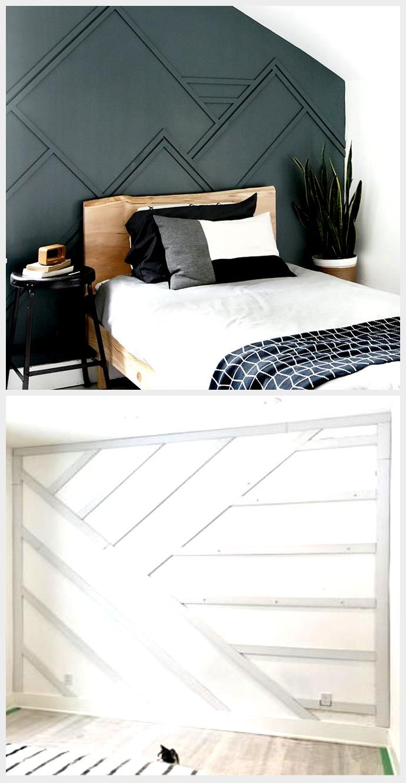 Diy Wood Trim Accent Wall In 2020 Wood Trim Accent Wall Bedroom Wood Trim Walls