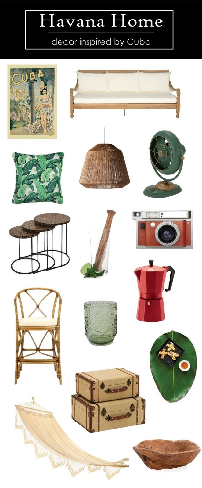 Modern Havana Home Decor Inspired by Cuba Cuban decor