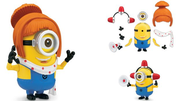DELUXE ACTION FIGURE  BUILD-A-MINION FIREMAN LUCY