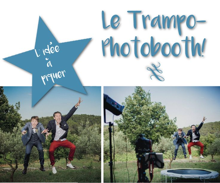 inspiration mariage photobooth trampoline