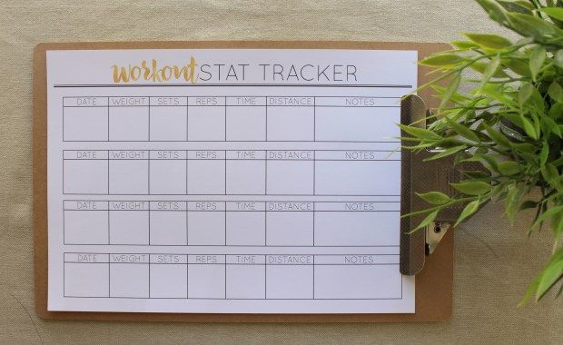 Workout Stat Tracker in A4 from Cathartic Malarkey
