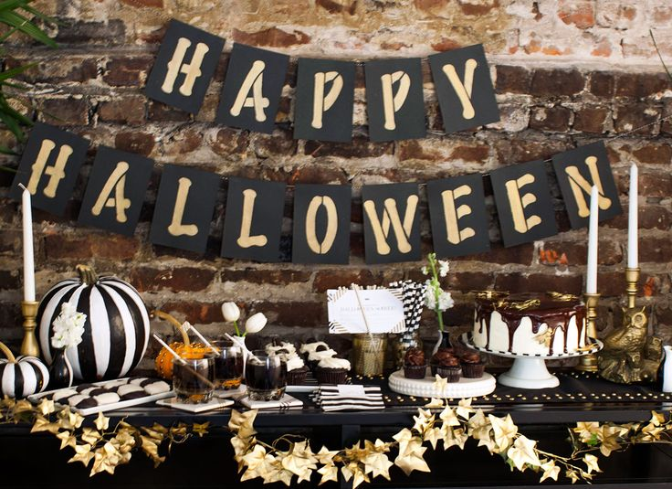 15 must makes for a chic halloween soiree chic halloweenhalloween party ideashalloween - Halloween Decorations For A Party