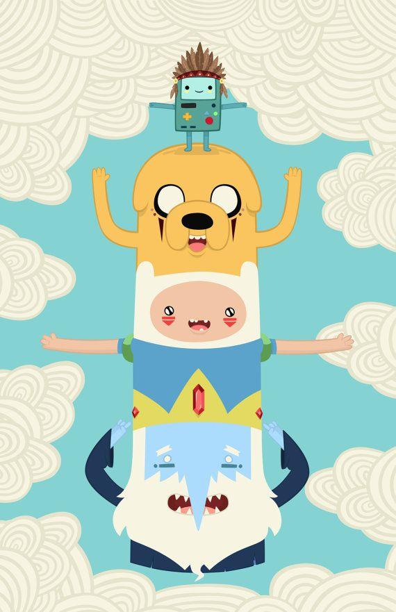 Adventure Totem Print 11x17 by FuturistArt on Etsy, $20.00