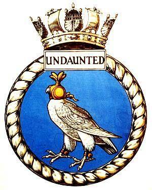 HMS Undaunted (N55) submarine ship´s badge