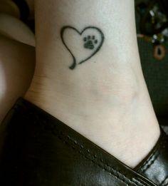paw print memorial tattoo   memorial tattoos dog - Google Search   tattoos