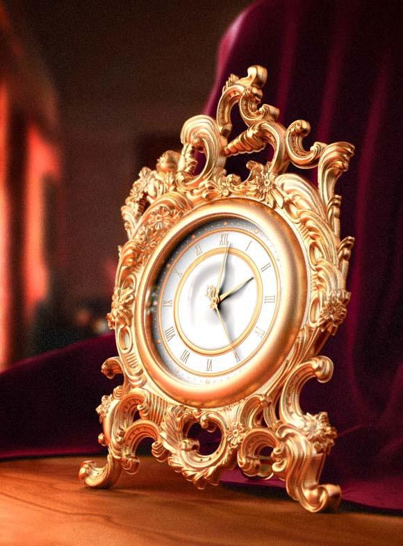 Clock  3Dmax