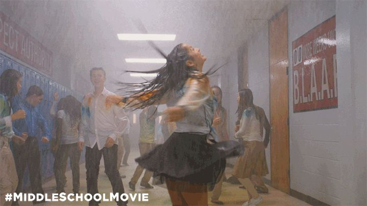 dancing fun excited jumping middle school movie middle school dancing in the rain #humor #hilarious #funny #lol #rofl #lmao #memes #cute