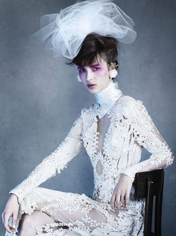 Waleska Gorczevski by Victor Demarchelier for Vogue Japan Wedding Summer 2014