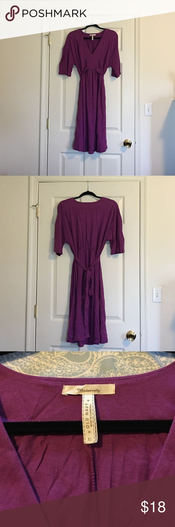 Purple Maternity Dress Old Navy Maternity purple cotton dress Old Navy Maternity Dresses