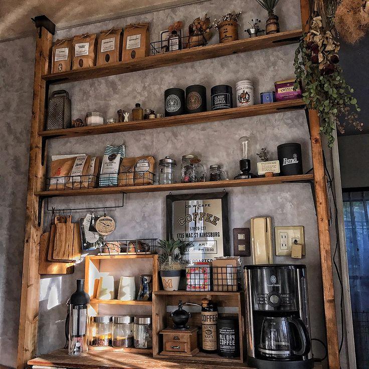natural kitchen/DIY/カフェコーナー/ディアウォール/おうちカフェ…などのインテリア実例 - 2017-04-17 19:31:30 | RoomClip(ルームクリップ)