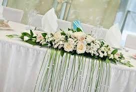 Bildergebnis für свадебный стол жениха и невесты