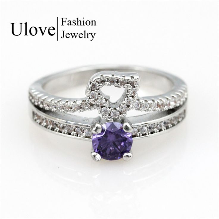 Find More Rings Information about 6 Colors Anel Cubic Zirconia Women Fall 2016 New Fashion Jewelry Anillo Love Silver Plated Anel Ring Band with Rhinestones Y2718,High Quality ring band,China silver ring Suppliers, Cheap brand ring from Uloveido Official Store on Aliexpress.com
