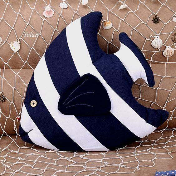 Baby Pillows, Sofa Pillows, Throw Pillows, Kids Pillows, Bedroom Toys, Fish Pillow, Cute Fish, Pillows Online, Deco Originale