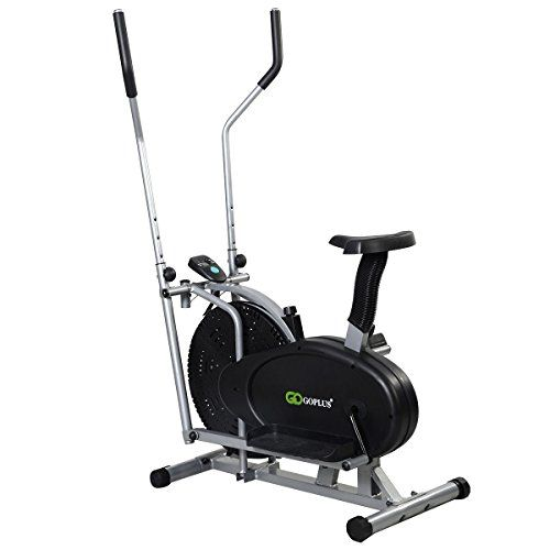 Goplus® 2 IN 1 Elliptical Bike Exercise Workout Home Cross Trainer Machine…