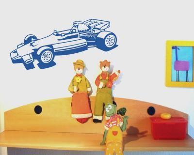 Wandtattoo Formel 1 Wagen. Formel 1 Wagen Wandtattoo in einer Breite ab 40cm