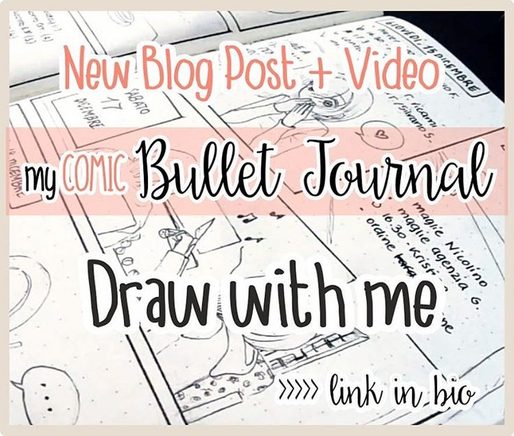 New Video ✨ That's how I draw one of my Comic Bullet Journal pages! On my blog you can find all the steps and info about my drawing process. Let me know your opinion and have fun! 💕