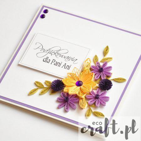 quilling, husking, handmade, DIY, greeting card, paperart, thanks, ecocraft.pl