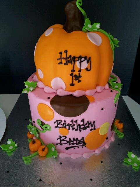 Lil Pumpkin Birthday Cake