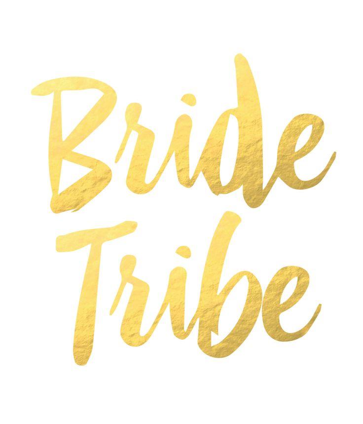 Bride Tribe Tattoo. Bachelorette Tattoo. Gold Flash Tattoo at Pretty Chic SF