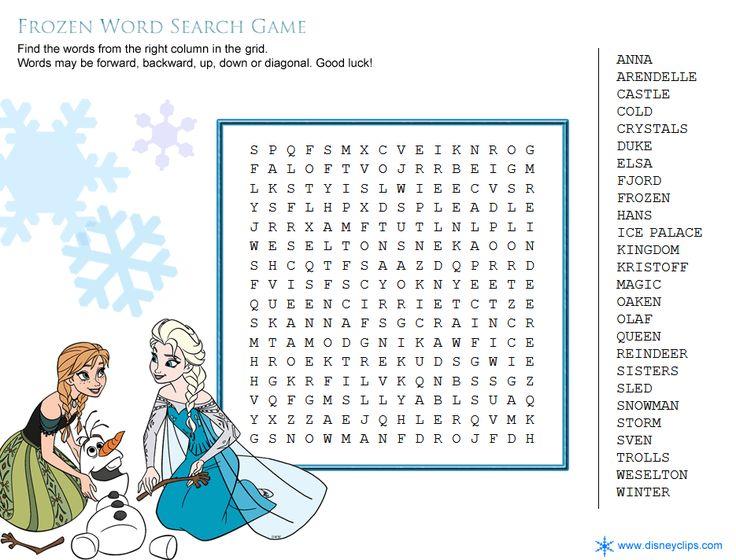 Printable Disney Word Search Games - Disney's World of Wonders