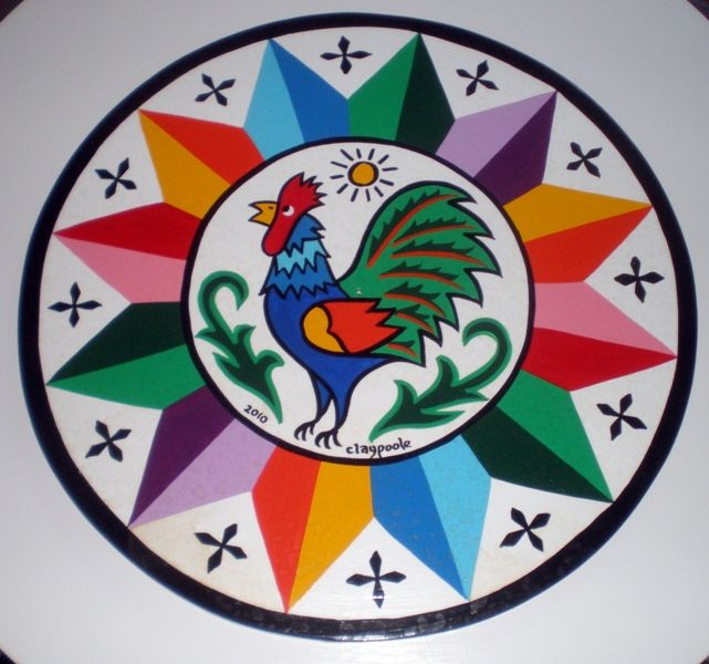 Rooster Amp 12 Point Star Hex Signs Pennsylvania Dutch