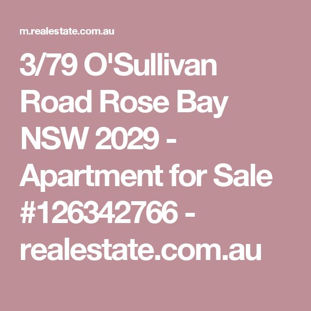 3/79 O'Sullivan Road Rose Bay NSW 2029 - Apartment for Sale #126342766 - realestate.com.au