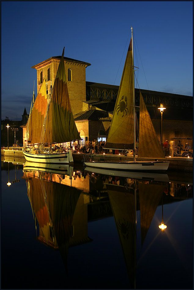 Cervia, region of Emilia Romagna, province of Ravenna , Italy. The sailboats are gorgeous! sailboats