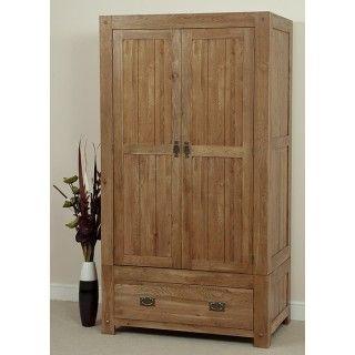 Quercus Rustic Solid Oak Wardrobe - Quercus (Rustic Solid Oak) - Shop by Range